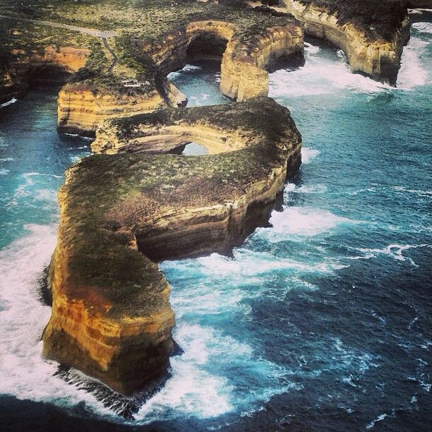 seahorse formation from above Great Ocean Road in #Victoria #Australia