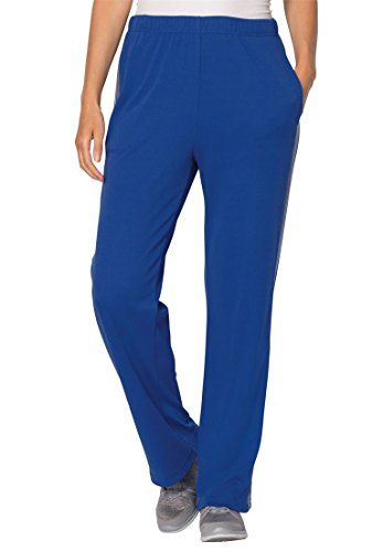 Womens Plus Size Petite Side Stripe Active Pants Dark Sapphire Medium Heather *** You can get more details by clicking on the image.