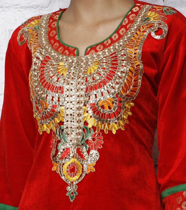Red Velvet Kurta | by Navyou