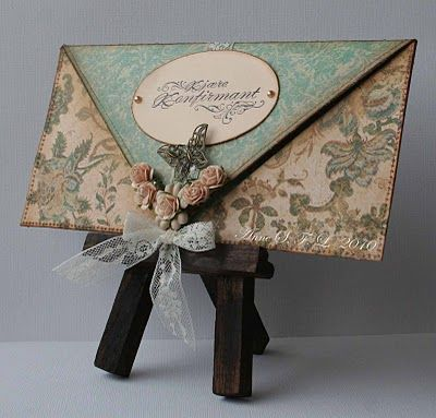 """envelope card from a single sheet of 12"""" by 12"""""""