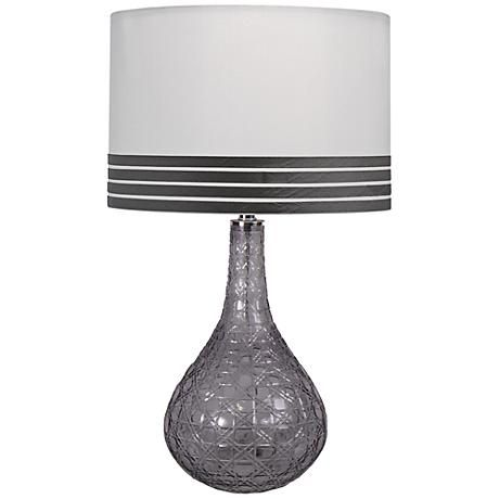 This Lovely Table Lamp From Jamie Young Offers An Intricately Designed Gray  Cut Glass Base That