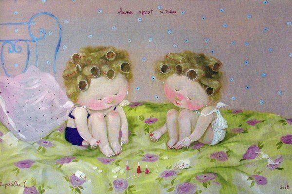Ангелы красят ногтики...