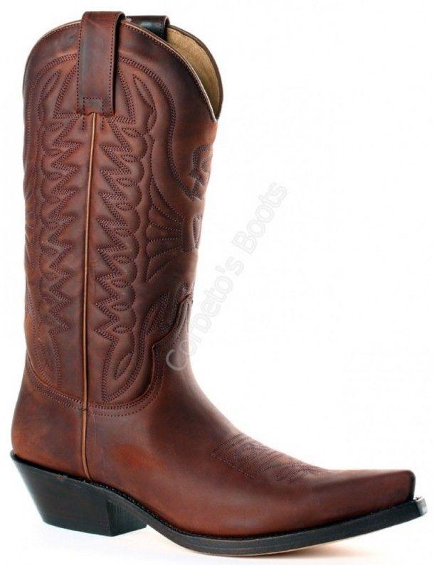 Corbeto's Boots | 1920 Crazy Old Arabia | Bota cowboy Mayura unisex piel vacuno marrón engrasada | Mayura Boots unisex greased brown cowboy boots.