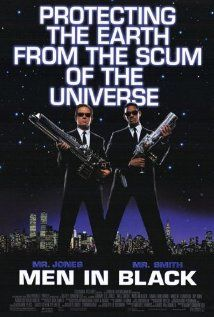 MEN IN BLACK.  Director: Barry Sonnenfeld.  Year: 1997.  Cast: Tommy Lee Jones, Will Smith and Linda Fiorentino