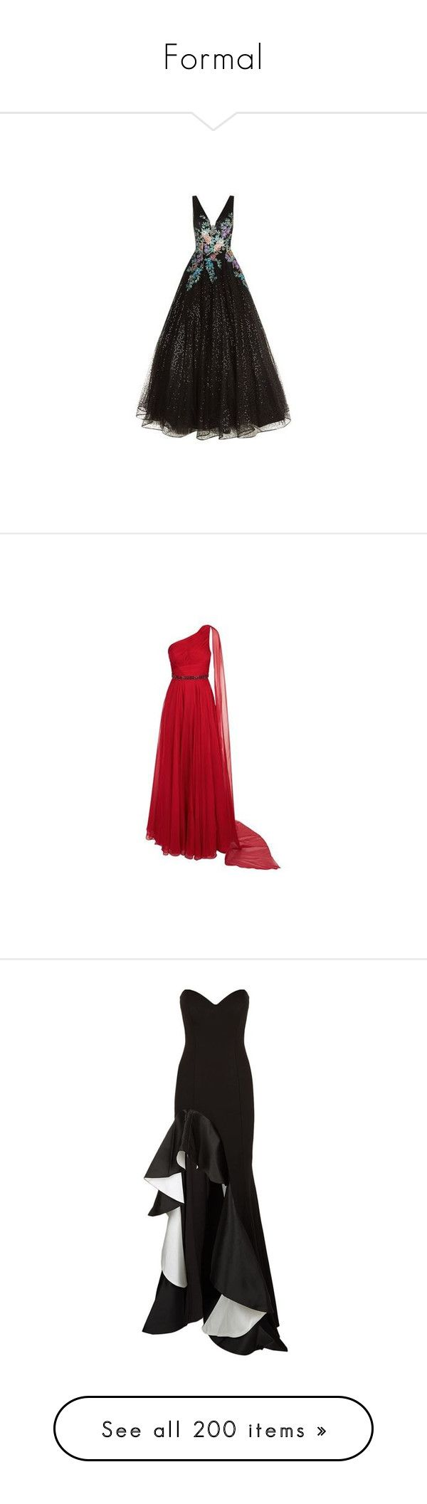 """Formal"" by rosaregaler ❤ liked on Polyvore featuring dresses, gowns, floral evening dresses, floral evening gown, jovani gown, floral ball gown, plunging v neck dress, red evening gowns, red chiffon gowns and chiffon evening dresses"