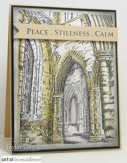 The Quiet Moments: Ancient Arches @Shari Snider Crafts @SpectrumNoir
