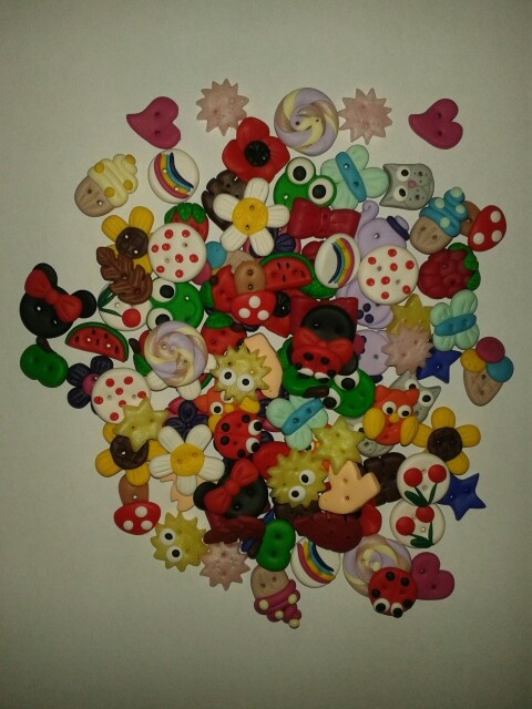 Fimo buttons -Handmade by Roxie