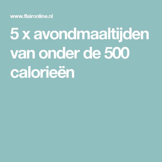 5 x avondmaaltijden van onder de 500 calorieën