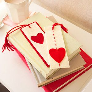 Super cute.  I just thrifted a couple vintage books in red and cream for Valentine's decor so these will go great!!!