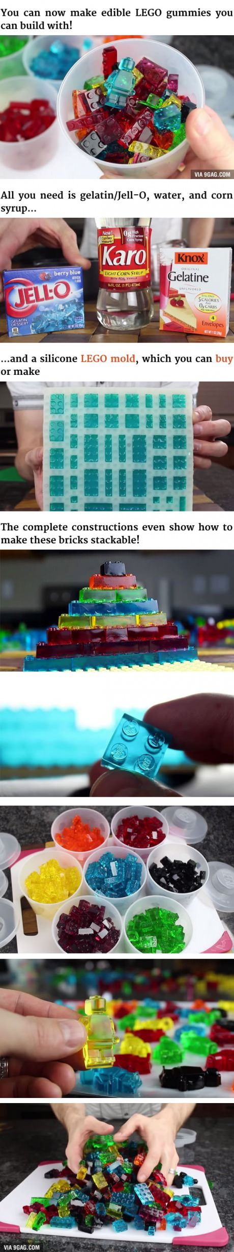 épinglé par ❃❀CM❁✿⊱How To Make Edible & Stackable LEGO Gummy Candy