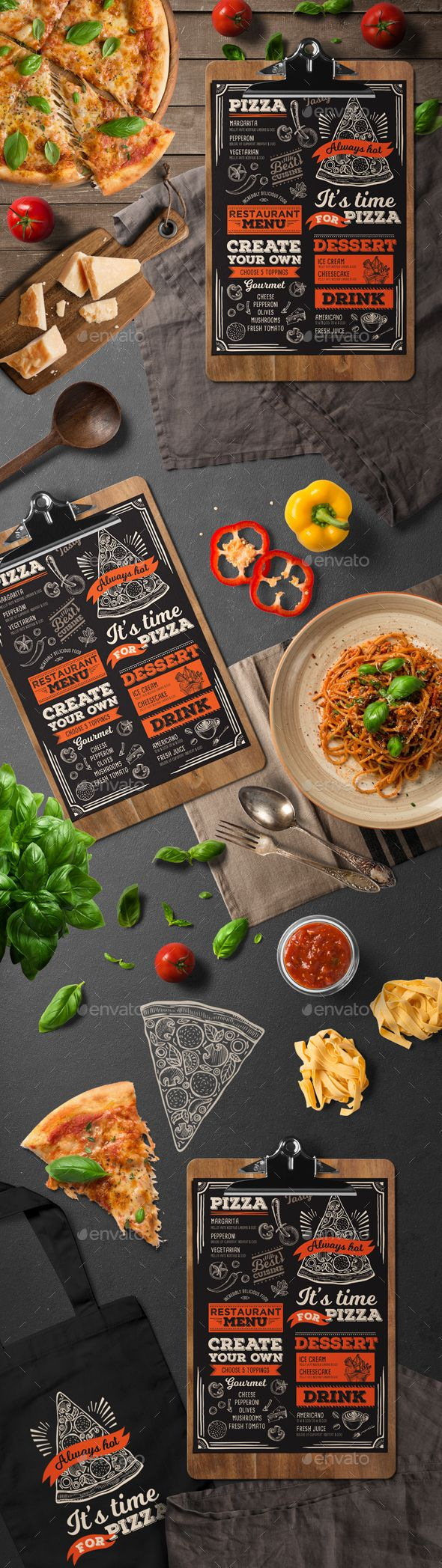Italian Food Menu — Photoshop PSD #food template #food menu • Download ➝ https://graphicriver.net/item/italian-food-menu/19668069?ref=pxcr