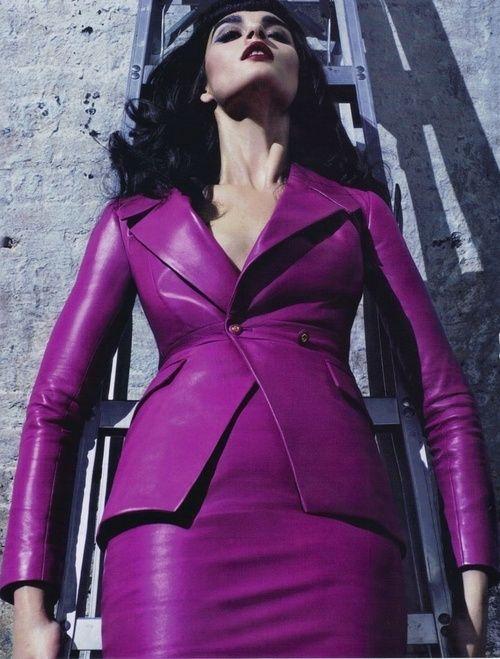 Purple Leather Suit