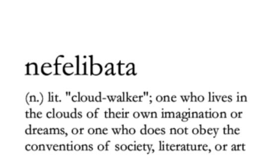 One who lives in the clouds of their own imagination or dreams, or one who does not obey the conventions of society, literature, or art.