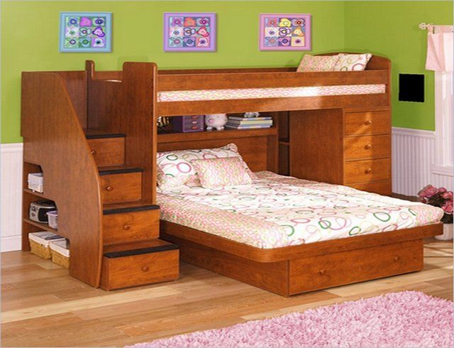 bunk beds twin over full with stairs