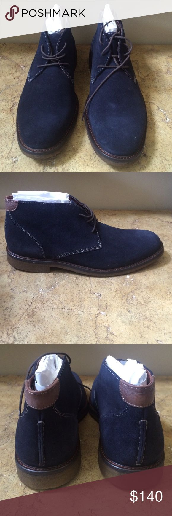Johnston and Murphy Men's Navy Ankle Boots 11.5 New boots Johnston and murphy Shoes Ankle Boots & Booties