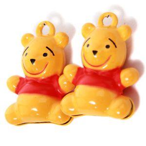 25x Lots Dark Yellow Red Bear Animal Shapes Brass Jingle Craft Bells Christmas J | eBay