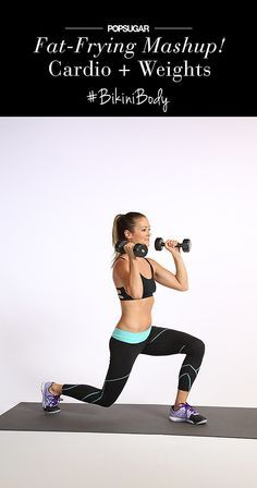 Mix cardio with strength training for a quick workout that burns calories and builds metabolism-boosting muscle.