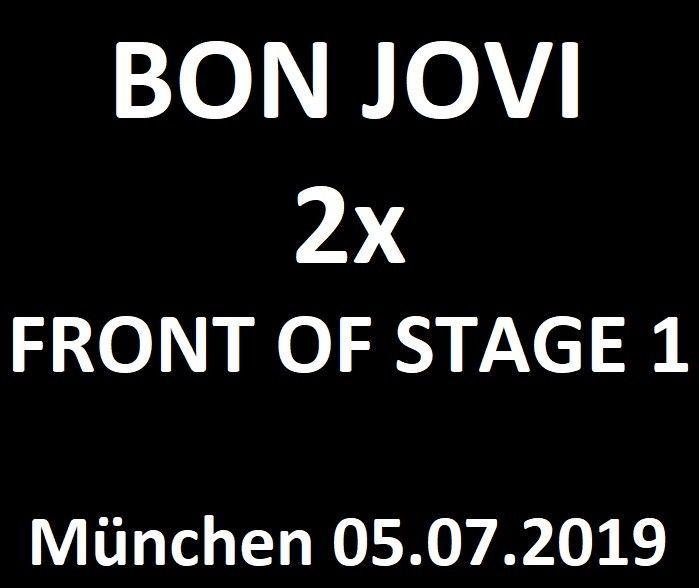 2x Front Of Stage 1 München 05072019 Tickets Konzertkarten