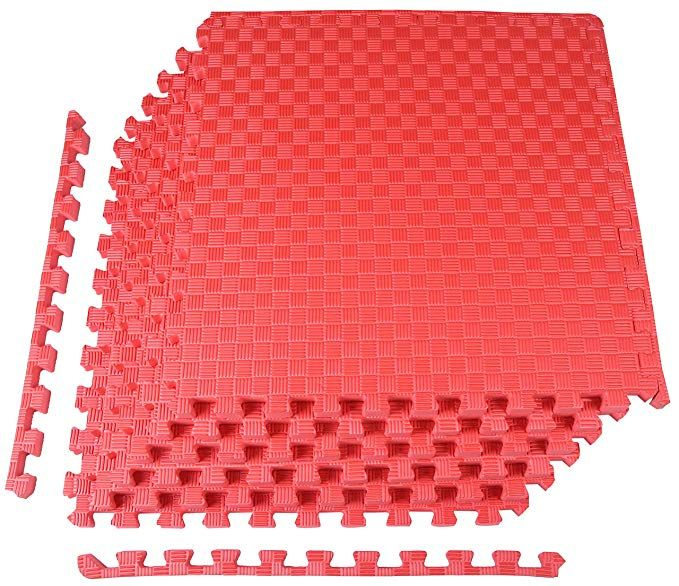 Balancefrom 1 Extra Thick Puzzle Exercise Mat With Eva Foam Interlocking Tiles For Mma Exercise Gymnastics And Home Gym Prote Protective Flooring Mat E