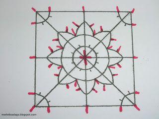 Dentelles d'abord: Tutorial: needle lace geometric (Strainer)