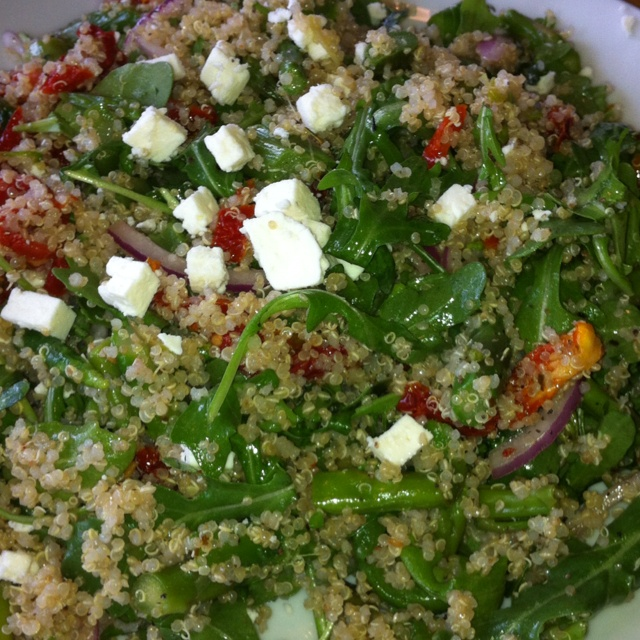 CPK Quinoa Arugula Salad with Asparagus and Sun Dried Tomatoes