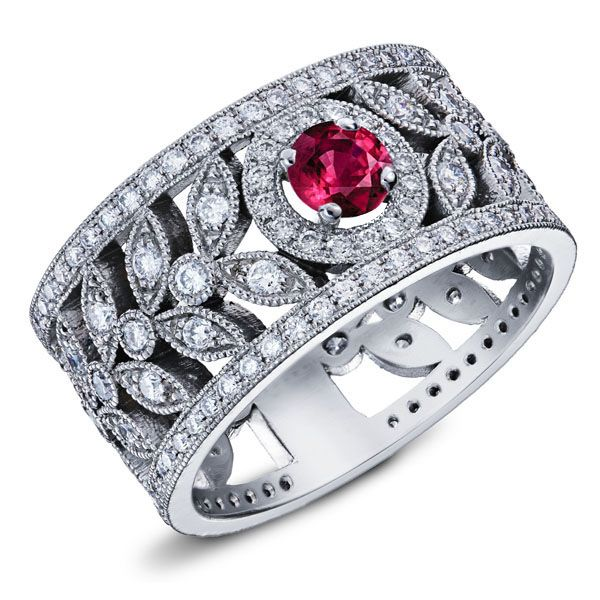 Top 21 best Bague Rubis et Diamants images on Pinterest | Centre  JL24