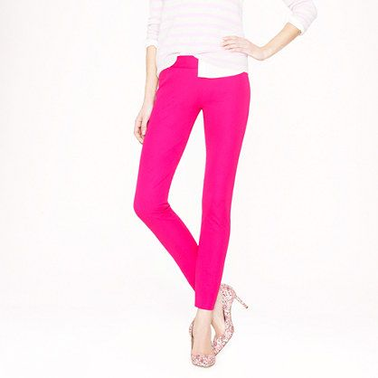 """J. Crew - Petite Minnie pant in stretch twill - A little bit '50s, our Minnie pant is chic and slim-fitting (thanks to a flattering two-way stretch fabric), with an exact-right-length cropped leg. Sits just above hip. Fitted through hip and thigh, with a slim, ankle-length leg. Cotton/spandex. 24"""" inseam. Side zip. Dry clean. Import. Online only."""