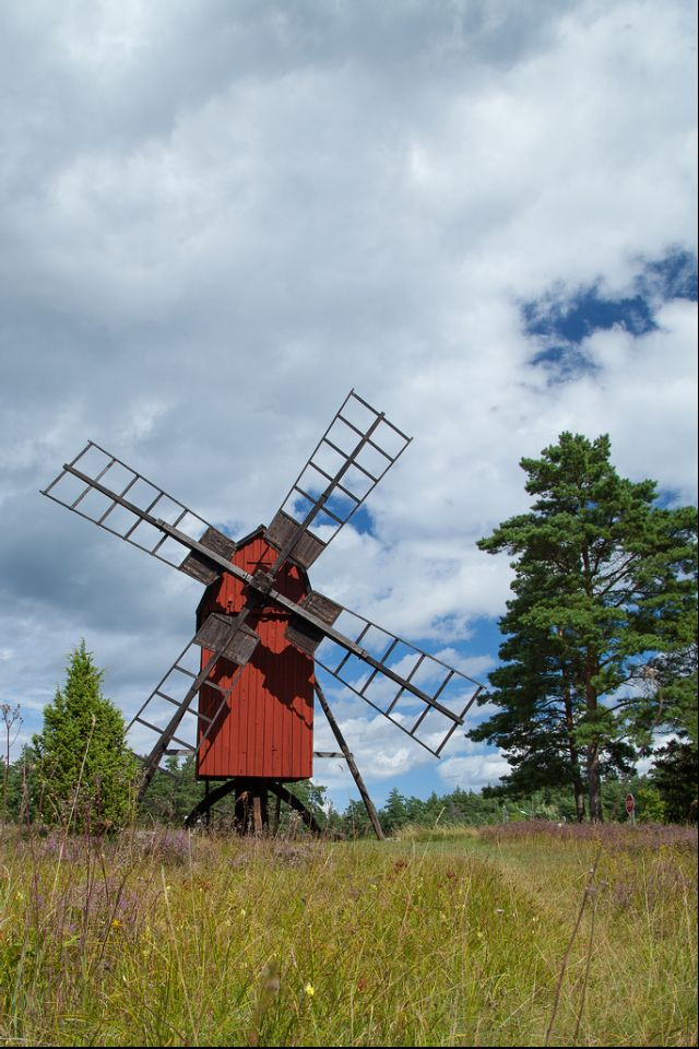 island öland sweden windmill