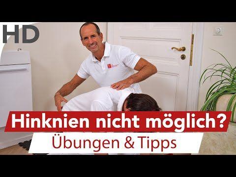 Knieschmerzen // Hinknien nicht möglich? Einfache Übungen für das Knie - YouTube