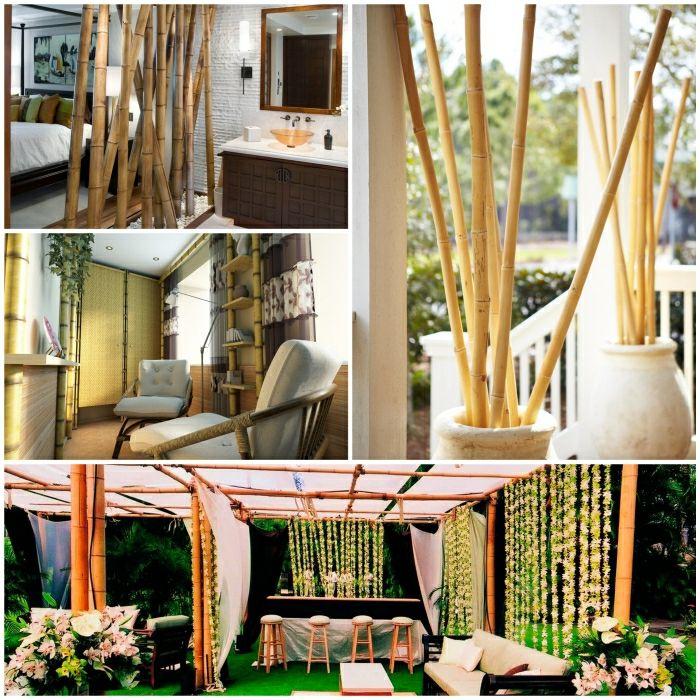 bambus deko zimmer dekorieren bambusstangen Dekoideen Pinterest - bambus im wohnzimmer