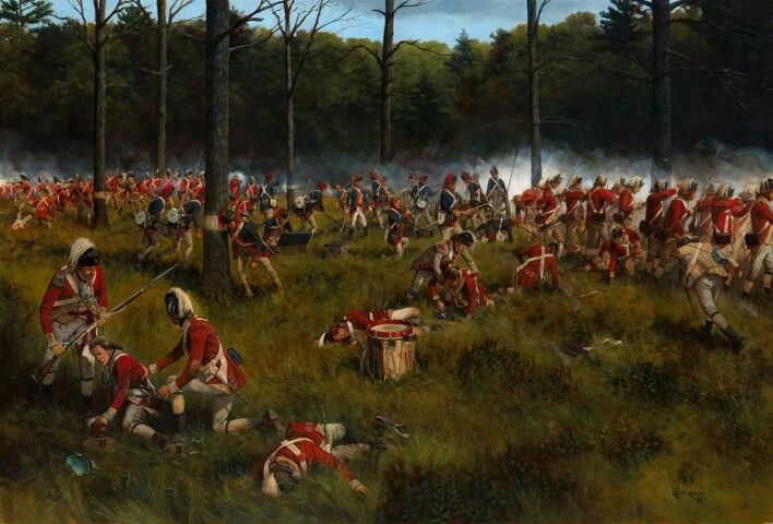 You are standing inside the lines of the British 62nd Regiment around 3:30 in the afternoon of 19 September, 1777, at the moment the left wing of the regiment began to crack. New Hampshire continentals and Connecticut militia attacked out of the woods in the background and enveloped the shorter line of the 62nd.