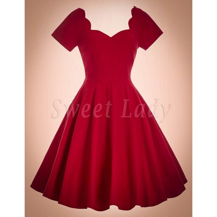 Milé červené bavlnené vintage šaty