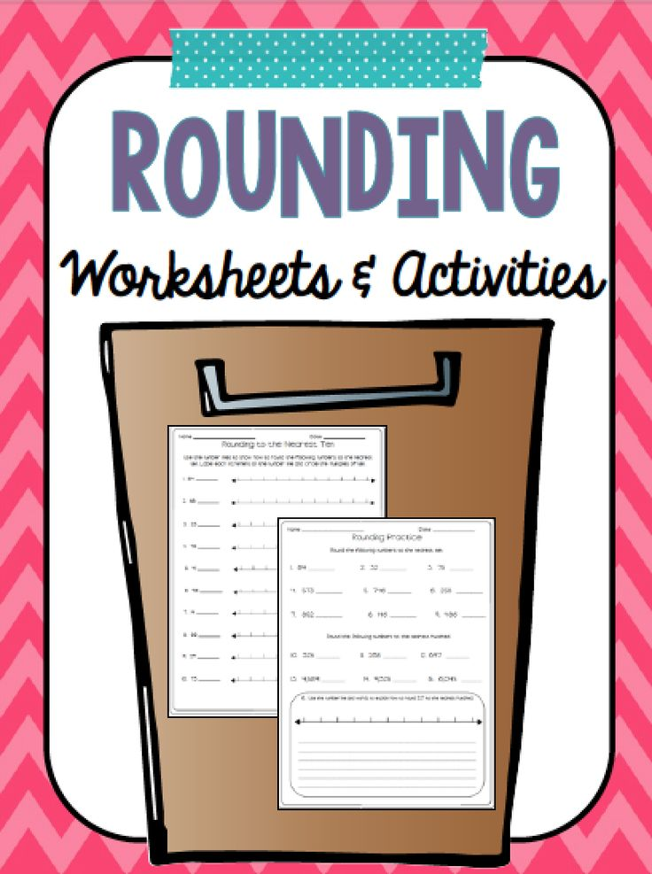 The 24 Best Rounding Images On Pinterest Math Activities Third
