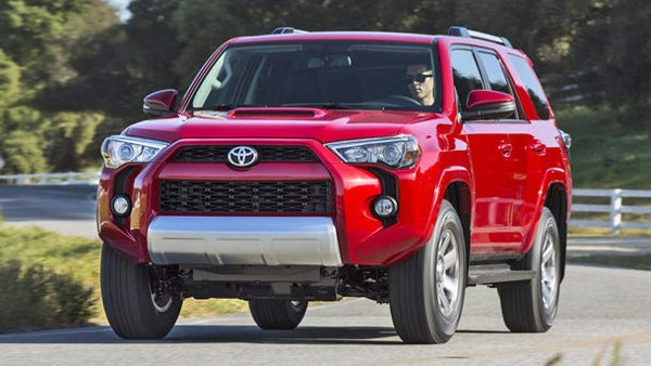 2014 Toyota 4Runner deploys with sharp edges. Toyota tweaked the mechanical pieces of the 4Runner, but didn't dilute them; there's still a 5-speed automatic mated to either a pure rear-wheel-drive setup or an optional four-by-four (not all-wheel-drive) with locking center differential. All of which is still powered by the 270-hp V-6, strong enough to score a maximum towing capacity of 5,000 lbs.