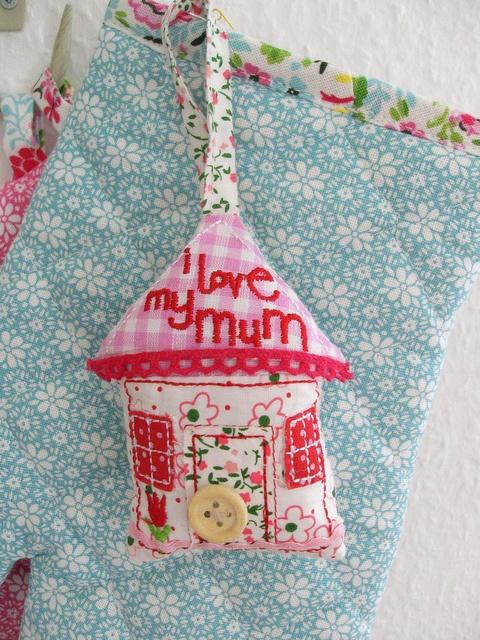Little fabric house by Gisela Graham