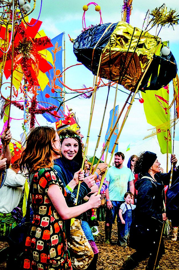 Festival Fun! Would you consider going to a festival as a family? You'll be glad to hear they are good for you and your teenagers! Image: Larmer Tree Festival