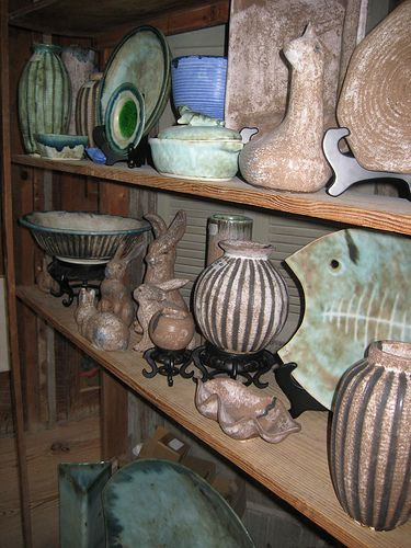 From the Mississippi Delta -- McCarty Pottery in Merigold, Mississippi. I wish that this wall were in my house.