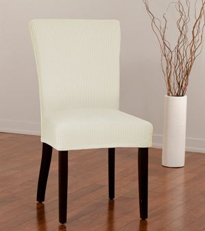 montgomery ii bone dining chair slipcover deeply embossed box pattern