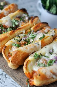 garlic butter italian sausage sandwiches