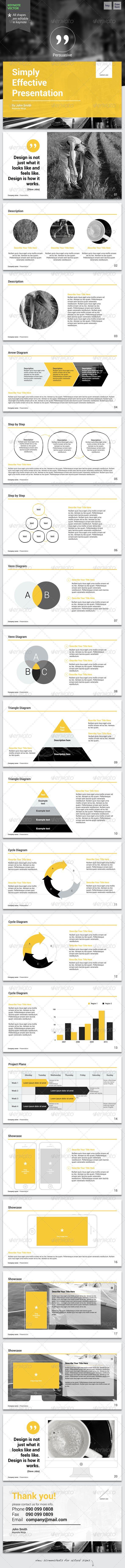 Persuasive - Keynote Presentation | Keynote theme / template