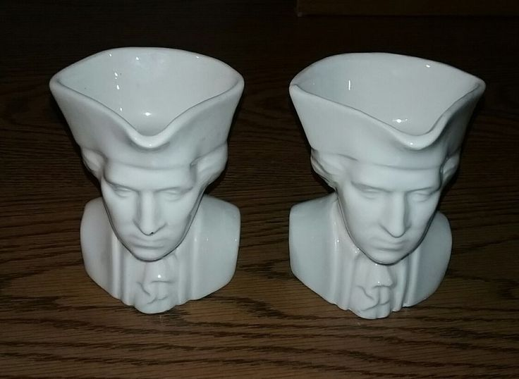 vintage SET LOT of (2) Greenfield Village Porcelain Pottery Colonial Man mugs #GreenfieldVillage #Colonial