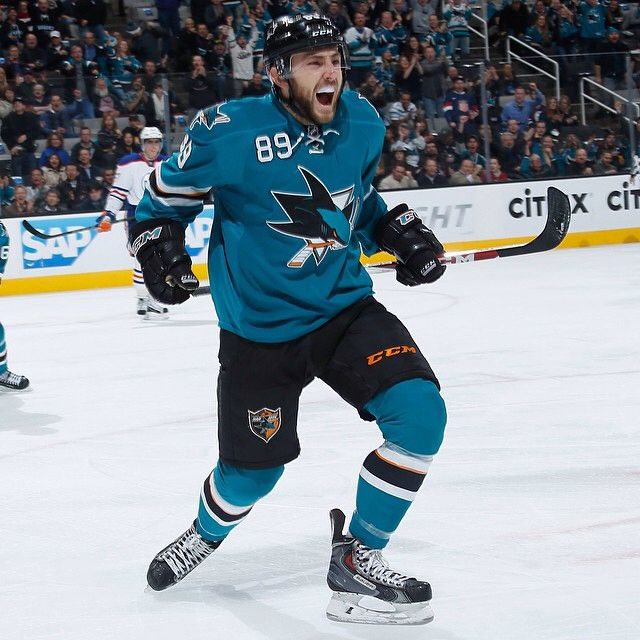In case you couldn't tell, Barclay Goodrow was pretty  about getting his first NHL goal. #SJSharks