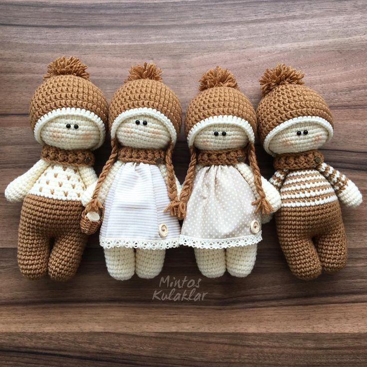 Bu ekip bence biziz ha @sevgilihobi ...! ? NOT:bebekler 25 cm dir #amigurumi #amigurumipattern #amigurumilove #amigurumidoll #örgü #örgübebek #örgümodelleri #uyku #uykuarkadasi #uykuarkadaşı