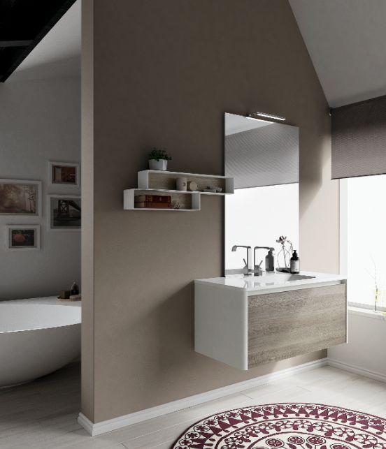 Elegant colors and natural textures. #bathdesign #design #MastellaDesign #furniture #wood #wooden #hpl #interiors #decor #interiordesign