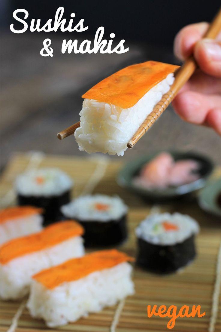 Des sushis vegan… Je vous aurai vraiment tout fait ! :-D Aujourd'hui, je vous propose de vous amuser, de vous régaler, autour d'un plat de sushis et makis, sans poisson mais avec …