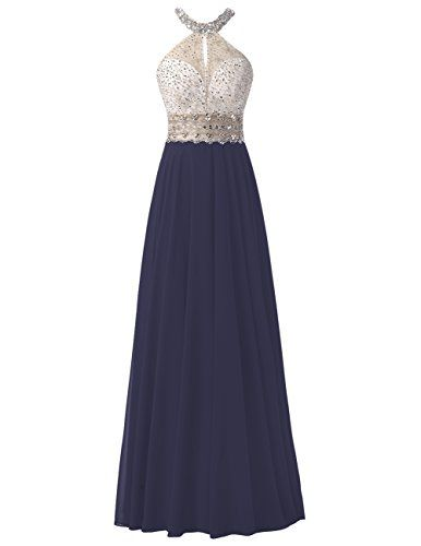 Dresstells® Long Chiffon Halter Neck Prom Dress                                                                                                                                                                                 More