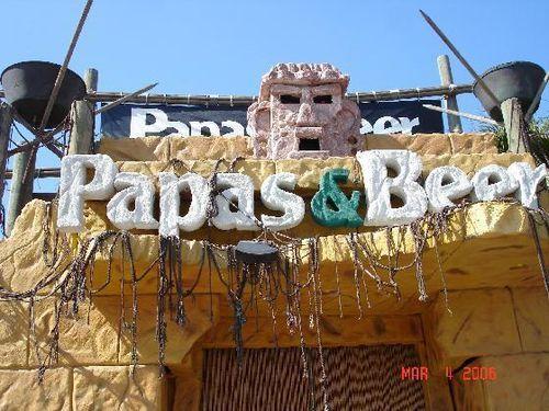 Papas and Beer Rosarito, Ensenada Baja Mexico