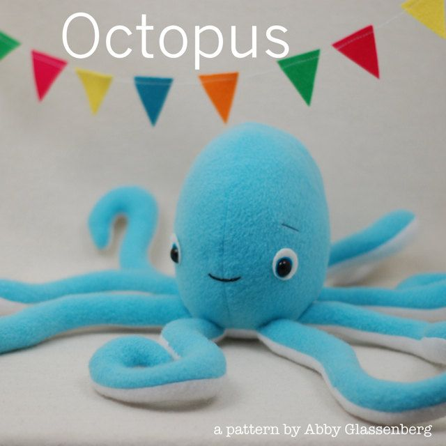 Octopus PDF Sewing Pattern    I love a cute octopus! I designed this toy to be huggable and cute and perfect for any child to love, especially kids who are interested in pirates! Ahoy!