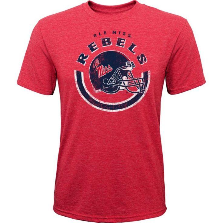 Gen2 Youth Ole Miss Rebels Red Helmet T-Shirt, Size: Medium, Team