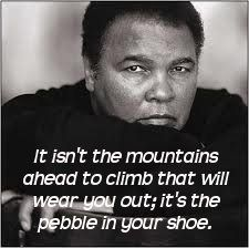 Remove the pebble rather than endure it. RIP ✌️❤️✨ #greatest